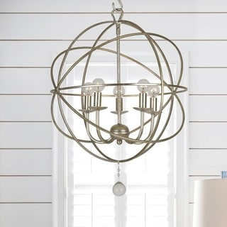 Crystorama Solaris Collection 5-light Olde Silver Mini Chandelier