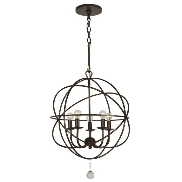 Crystorama solaris collection 5 light english bronze mini chandelier crystorama solaris collection 5 light english bronze mini chandelier aloadofball Images