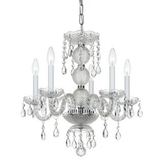 Crystorama Finley Collection 5-light Polished Chrome/Crystal Mini Chandelier