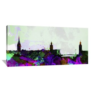 Naxart Studio 'Stockholm City Skyline' Stretched Canvas Wall Art