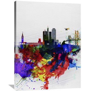 Naxart Studio 'San Francisco Watercolor Skyline 1' Stretched Canvas Wall Art