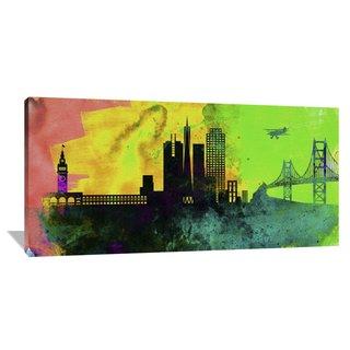 Naxart Studio 'San Francisco City Skyline' Stretched Canvas Wall Art