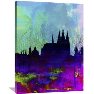 Naxart Studio 'Prague Watercolor Skyline' Stretched Canvas Wall Art