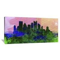 Naxart Studio 'Pittsburgh City Skyline' Stretched Canvas Wall Art