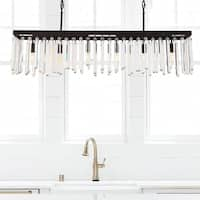 Crystorama Hollis Collection 6-light Forged Bronze Chandelier