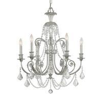 Crystorama Regis Collection 6-light Olde Silver/Crystal Chandelier