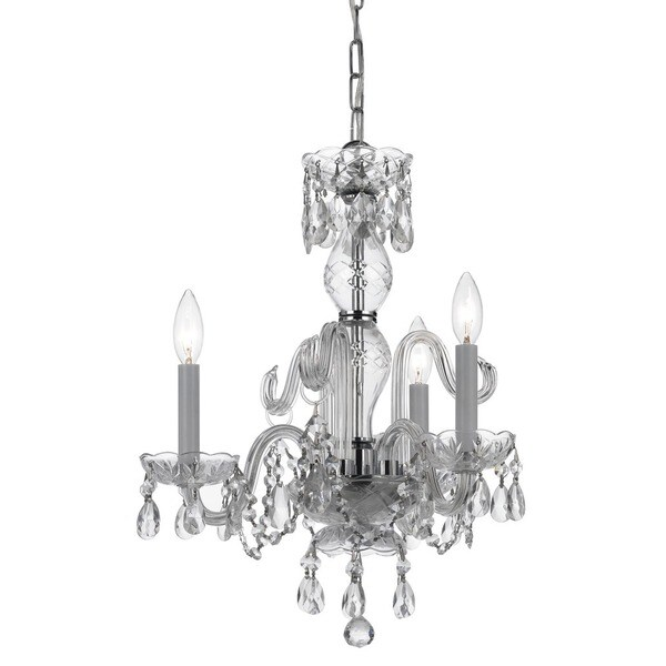 Crystorama Traditional Crystal Collection 3-light Polished Chrome/Crystal Mini Chandelier