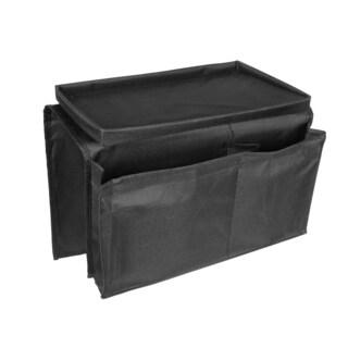 Black Canvas 6-pocket Chair Sofa Couch Arm Rest Home Organizer Cellphone Remote Holder