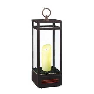 "29"" Portable LED Electric Candle Lantern, Bronze"
