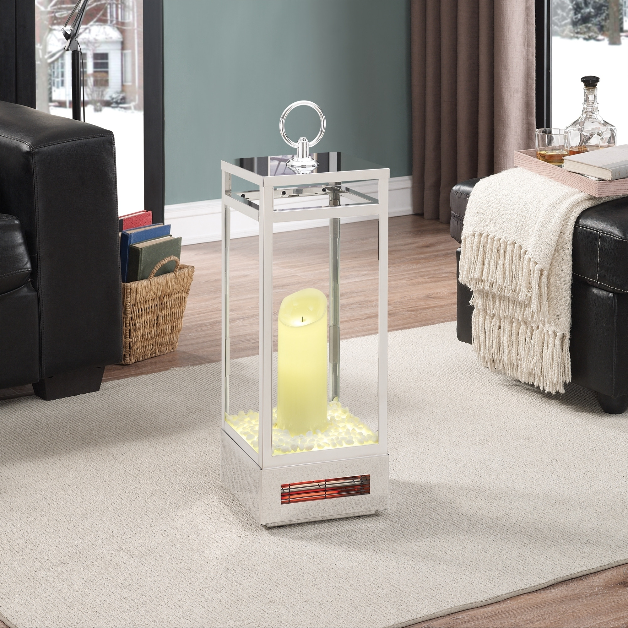 DURAFLAME 28.5-inch Portable LED Electric Flameless Candl...