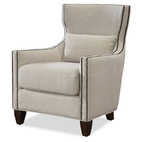 Universal Barrister Brown Wood/Linen Upholstered Accent Chair