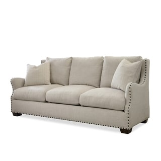 Serafina Fabric Dumdum Linen Sofa Free Shipping Today