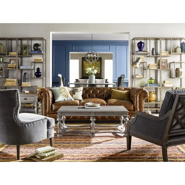 Strange Shop Berkley Leather Sofa Free Shipping Today Overstock Dailytribune Chair Design For Home Dailytribuneorg