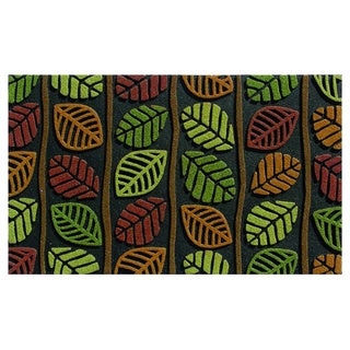 buyMATS Home Retro Leaves Multicolor Rubber 18-inch x 30-inch Indoor/Outdoor Mat