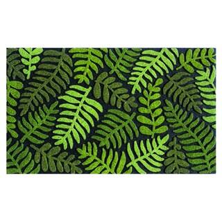 buyMATS Home Green Rubber Indoor Outdoor Fern Mat