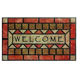 buyMATS Home Indoor Outdoor 18-inch x 30-inch Welcome Stones Mat