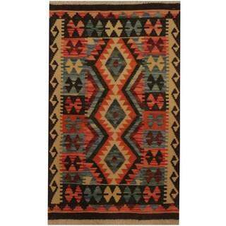 Herat Oriental Afghan Hand-woven Tribal Kilim (2' x 3'3)