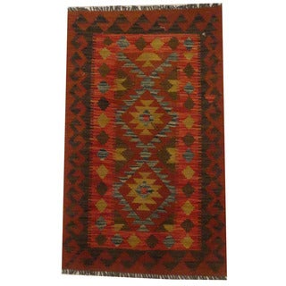 Herat Oriental Afghan Hand-woven Tribal Kilim (2'1 x 3'5)