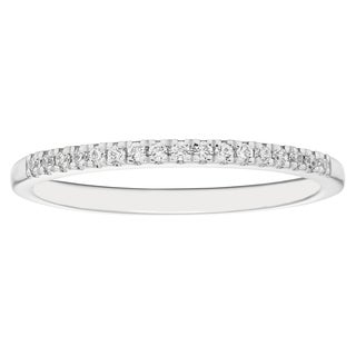 Boston Bay Diamonds 14k White Gold 1/10ct Round-cut Diamond Wedding Band (H-I, I1-I2)