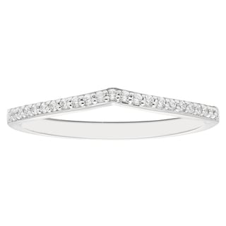 14k White Gold 1/10ct Round-cut Diamond Wedding Band (H-I, I1-I2)