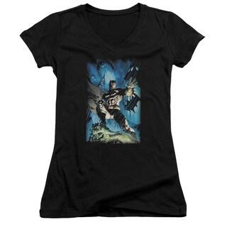 Batman/Stormy Dark Knight Junior V-Neck in Black