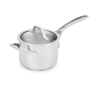 Calphalon Signature Stainless Steel 3-Quart Sauce Pan with Cover