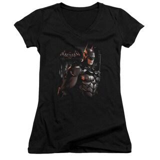Batman Arkham Knight/Dark Knight Junior V-Neck in Black
