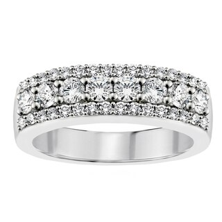 14k/18k White Gold 1ct TDW Round Diamond Wedding Band (G-H, SI1-SI2)