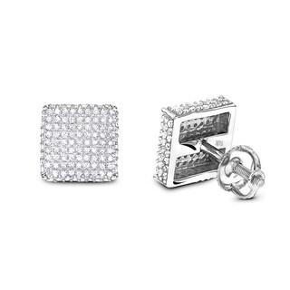 Luxurman 14k Gold 1ct TDW Diamond Earrings (H-I, SI1-SI2 )