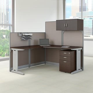 Office in an Hour 'L' Workstation Desk with Storage and Accessory Kit