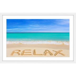 Link to Marmont Hill - Handmade Relax Framed Print Similar Items in Art Prints