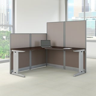 Office in an Hour 65 in. W x 65 in. D 'L' Workstation Desk