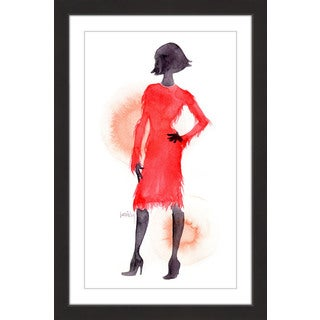 Marmont Hill - 'Red Coat' by Lovisa Oliv Framed Painting Print