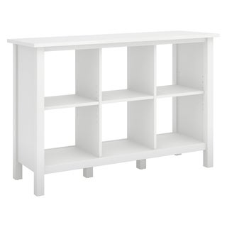 Bush Furniture Broadview 6 Cube Storage Bookcase in Pure White