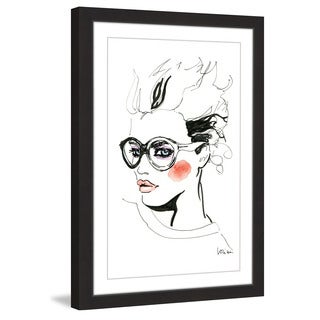 Marmont Hill - 'Oversized Glasses' by Lovisa Oliv Framed Painting Print