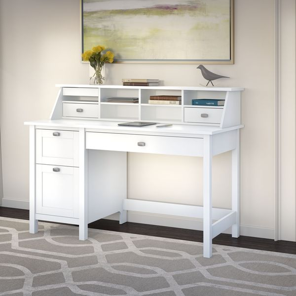 Broadview Computer Desk With 2 Drawer Pedestal And