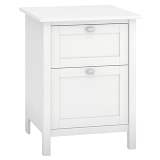 Broadview Collection Pure White 24 in. W 2-drawer Pedestal