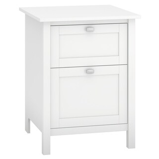 Broadview 2 Drawer File Cabinet in Pure White