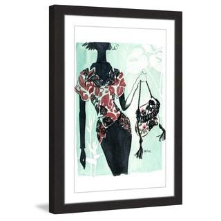Marmont Hill - 'Hawaiian Print' by Lovisa Oliv Framed Painting Print