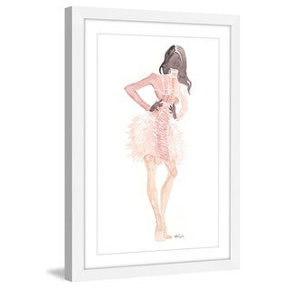Marmont Hill - 'Dusty Pink' by Lovisa Oliv Framed Painting Print - Multi