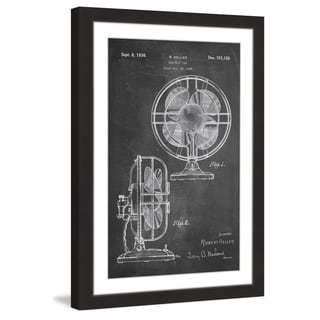 Marmont Hill - 'Electric Fan 1935 Chalk' by Steve King Framed Painting Print