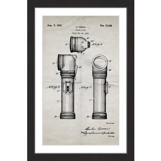Marmont Hill - 'Flashlight 1923 Old Paper' by Steve King Framed Painting Print