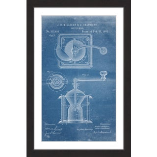 Marmont Hill - 'Coffee Mill 1885 Blueprint' by Steve King Framed Painting Print