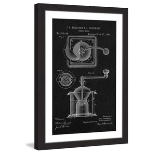 Marmont Hill - 'Coffee Mill 1885 Black Paper' by Steve King Framed Painting Print