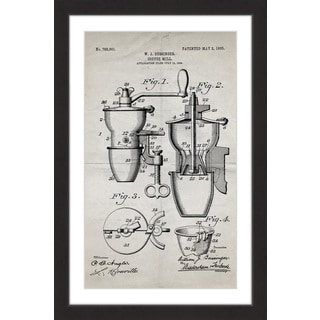 Marmont Hill - 'Coffee Mill 1905 Old Paper' by Steve King Framed Painting Print