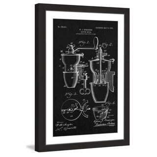 Marmont Hill - 'Coffee Mill 1905 Black Paper' by Steve King Framed Painting Print