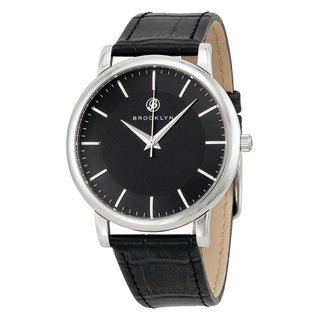 Brooklyn Watch Co. Men's Myrtle Black Dial Quartz Watch