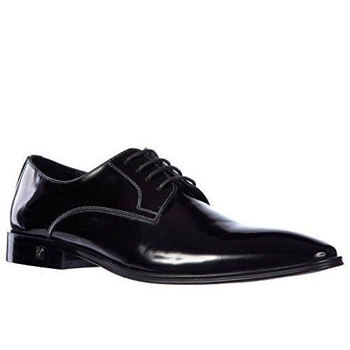 Versace Collection Black Leather Brogue Oxfords Men's Shoes