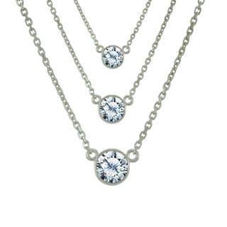 Antwerp's 14k White Gold 1/4ct TDW 'Wonder' Necklace (G-H, SI1-SI2)