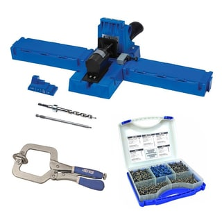 Kreg K5 Jig with SK03 Pocket-Hole Screw Kit and Large Face Clamp